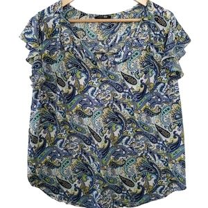 PAPERMOON PAISLEY PRINT BLOUSE - LARGE
